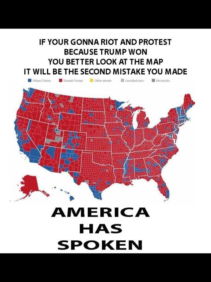 TRUMP WON This map is EVIDENCE that these are organized riots we
