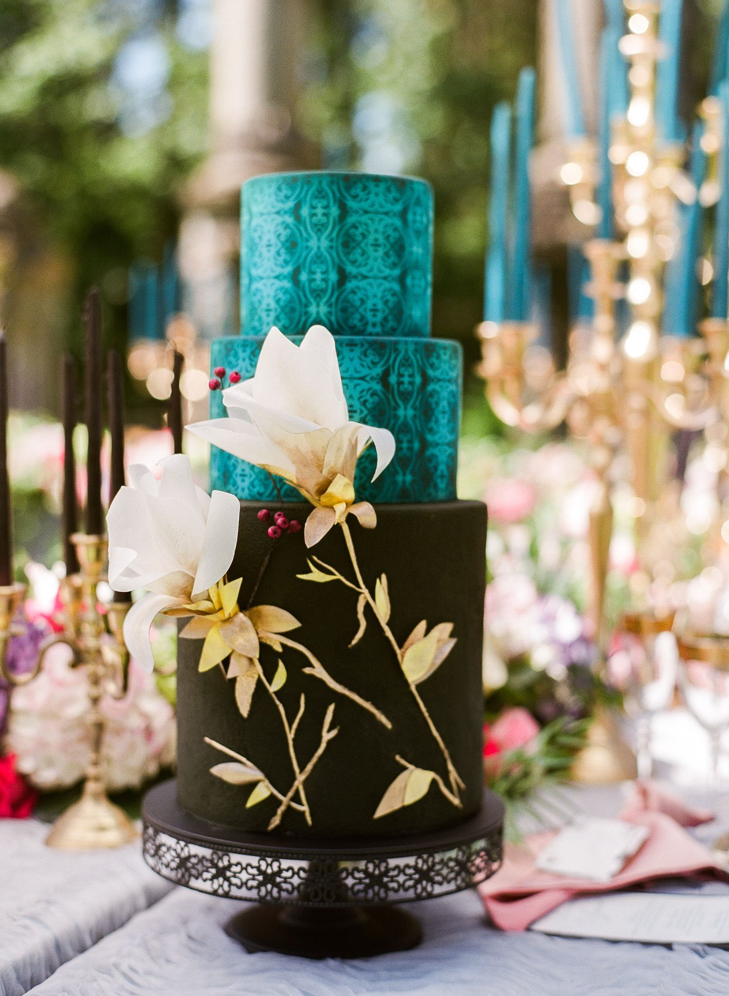 Blue and black wedding decor  The Perfect Blueprint for an Ethereal New Orleans Wedding  Lancing