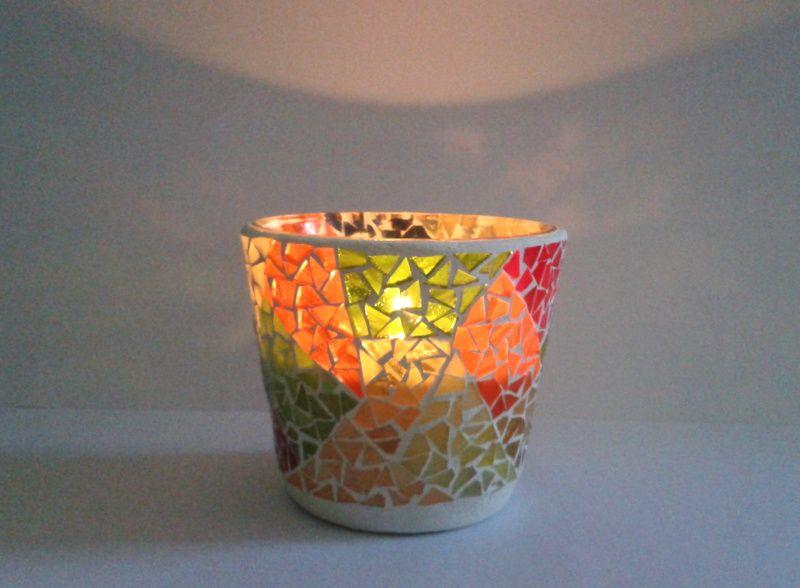 vaso de cristal térmico para vela o planta
