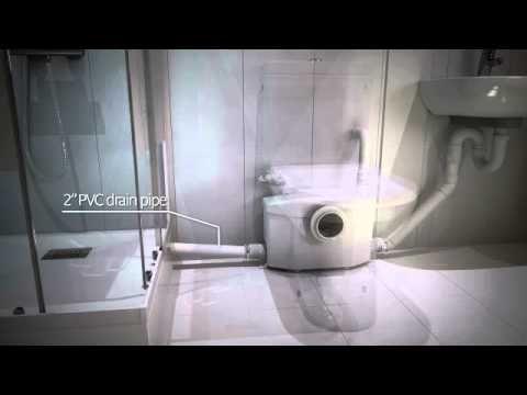 Saniflo Macerating Unit A Great Way To Install A Toilet Below - Macerator pump for basement bathroom for bathroom decor ideas