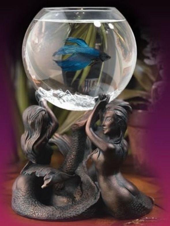 Betta Art Decorative Fish Bowl Fascinating Gracefully Elegant And Beautiful Small Aquarium On Mermaid Design Ideas