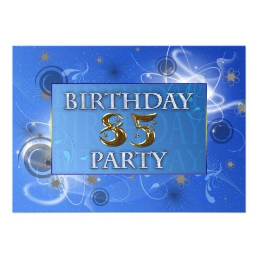 Free Birthday Party Invitations For 85th
