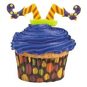 24 Witches' Legs Cupcake Picks #25/6392