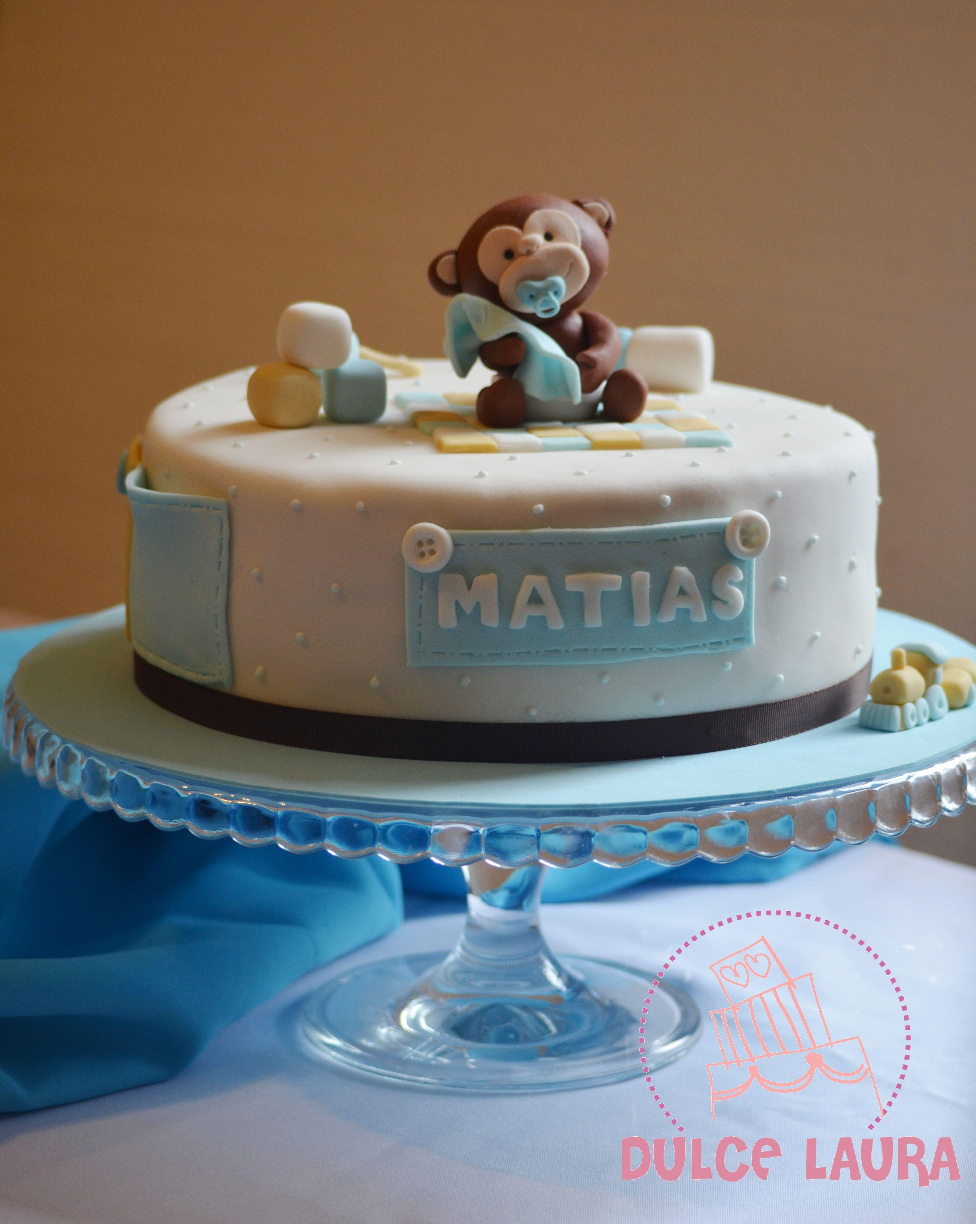 Torta Para Baby Shower Monito Mimoso #Dulcelaura #Cakelife #Babyshower #Monkey