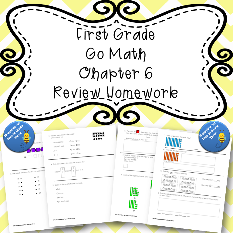 First Grade Go Math Chapter 6 Review Homework in 2020 | Go ...