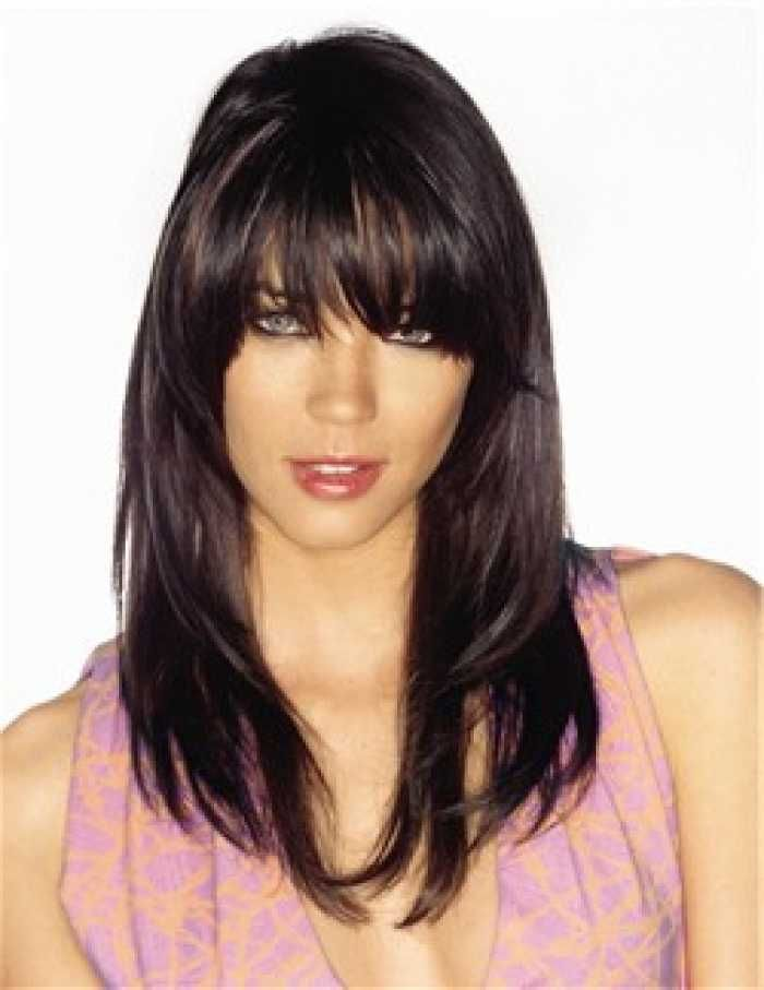 Swell Long Bangs Fringes And Bang Hairstyles On Pinterest Short Hairstyles Gunalazisus