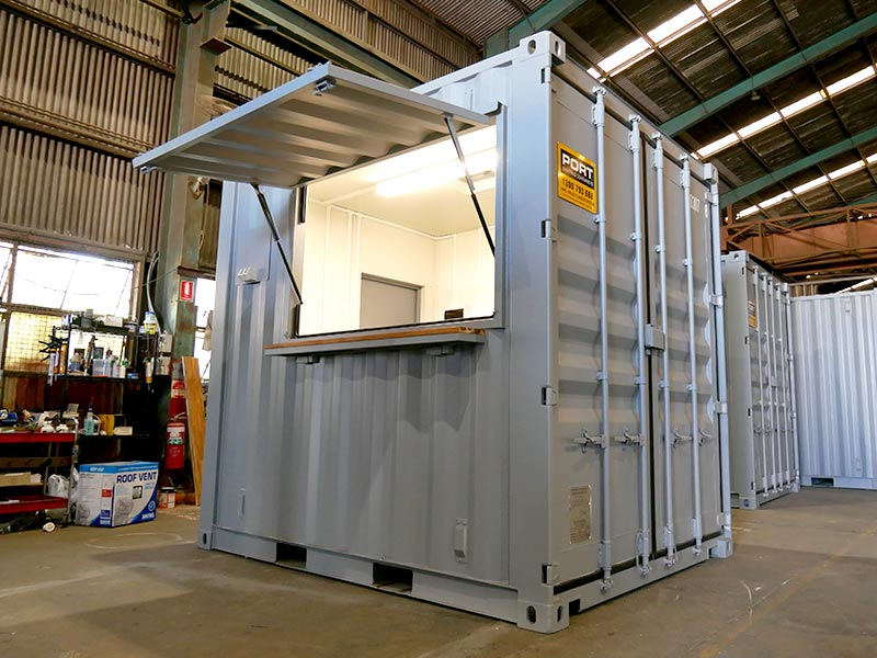 Container Ticket Booth Check Out This Ticket Booth Built From A 10ft Shipping Container More Photos And A Vi In 2020 Container House Shipping Container Ticket Booth