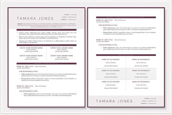 Great Resume Templates By Jannalynncreative For Microsoft Word