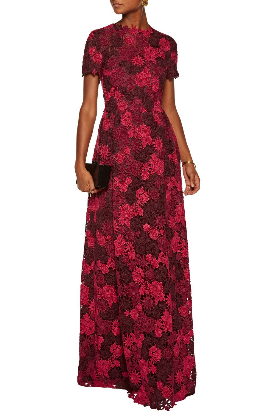 Cotton-blend guipure lace gown | Valentino | UK | THE OUTNET ...