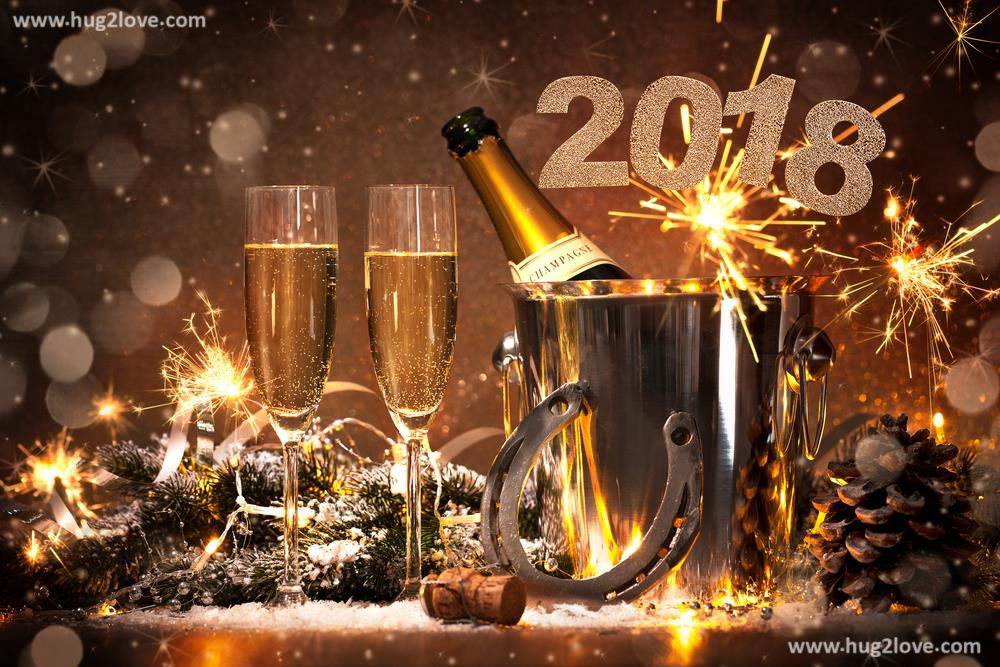 Cheers Happy New Year 2018 Wallpaper Desktop  Happy new year