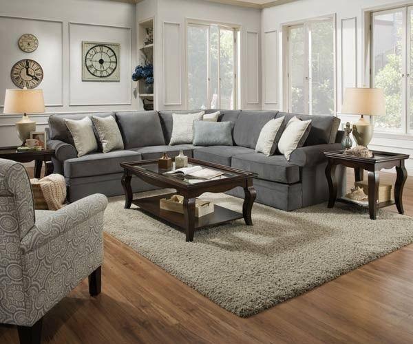Simmons Upholstery - Abington 3 Piece Living Room Set - 8530BR-03 ...