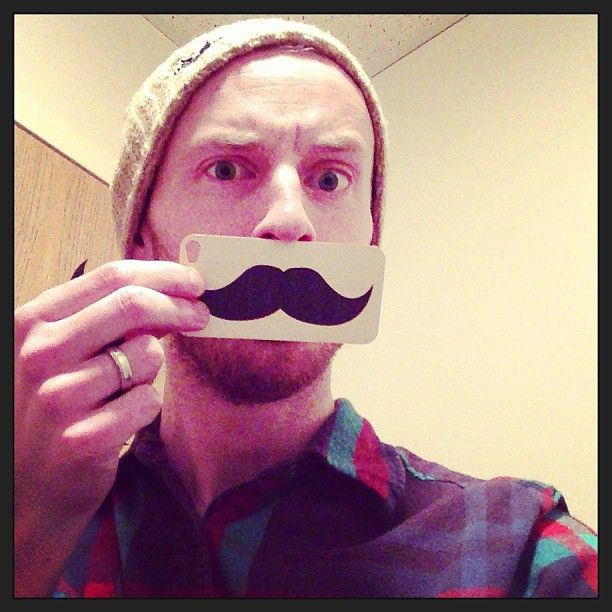 Alex and his mustache. Perplexing.