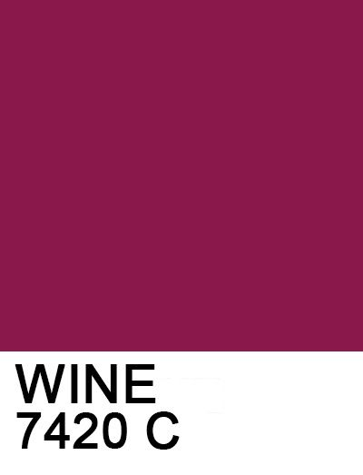 Wine 8b184b 7420 C Pantone Pantone Color Color Swatches