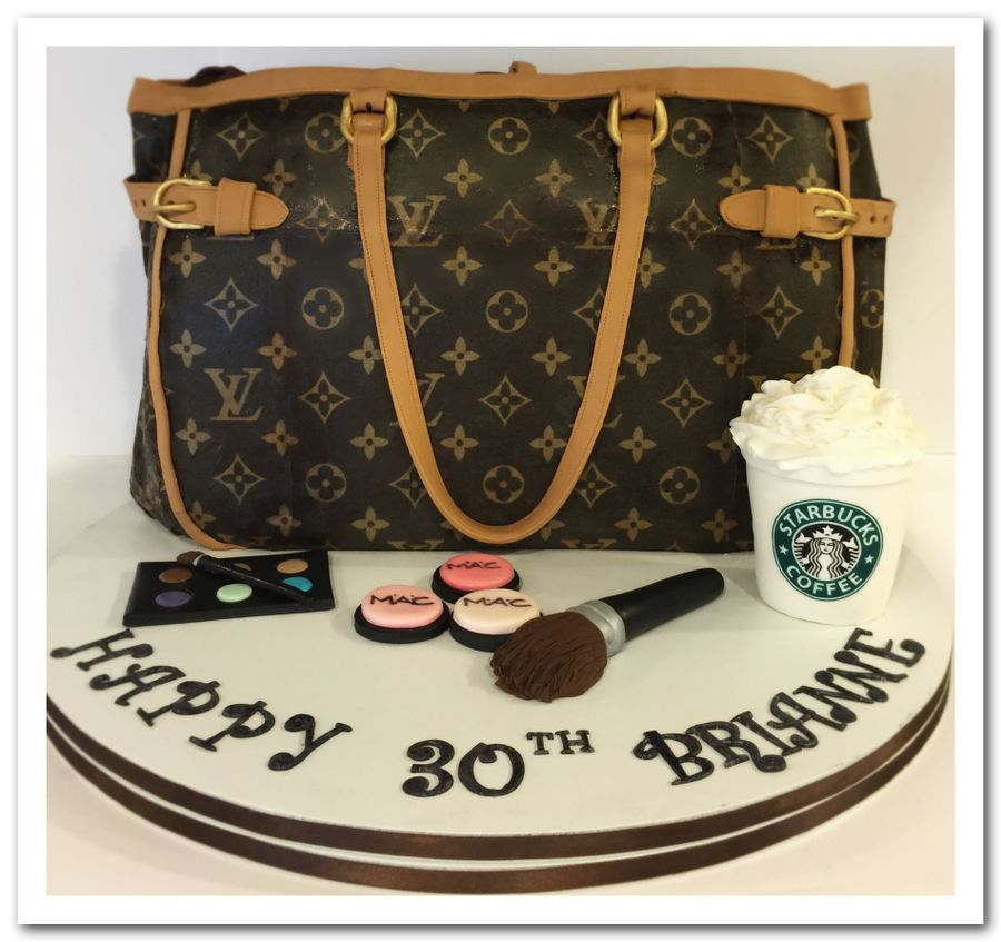 Louis Vuitton 30th Birthday Cake With Images Louis Vuitton Birthday Louis Vuitton Cake Handbag Cakes
