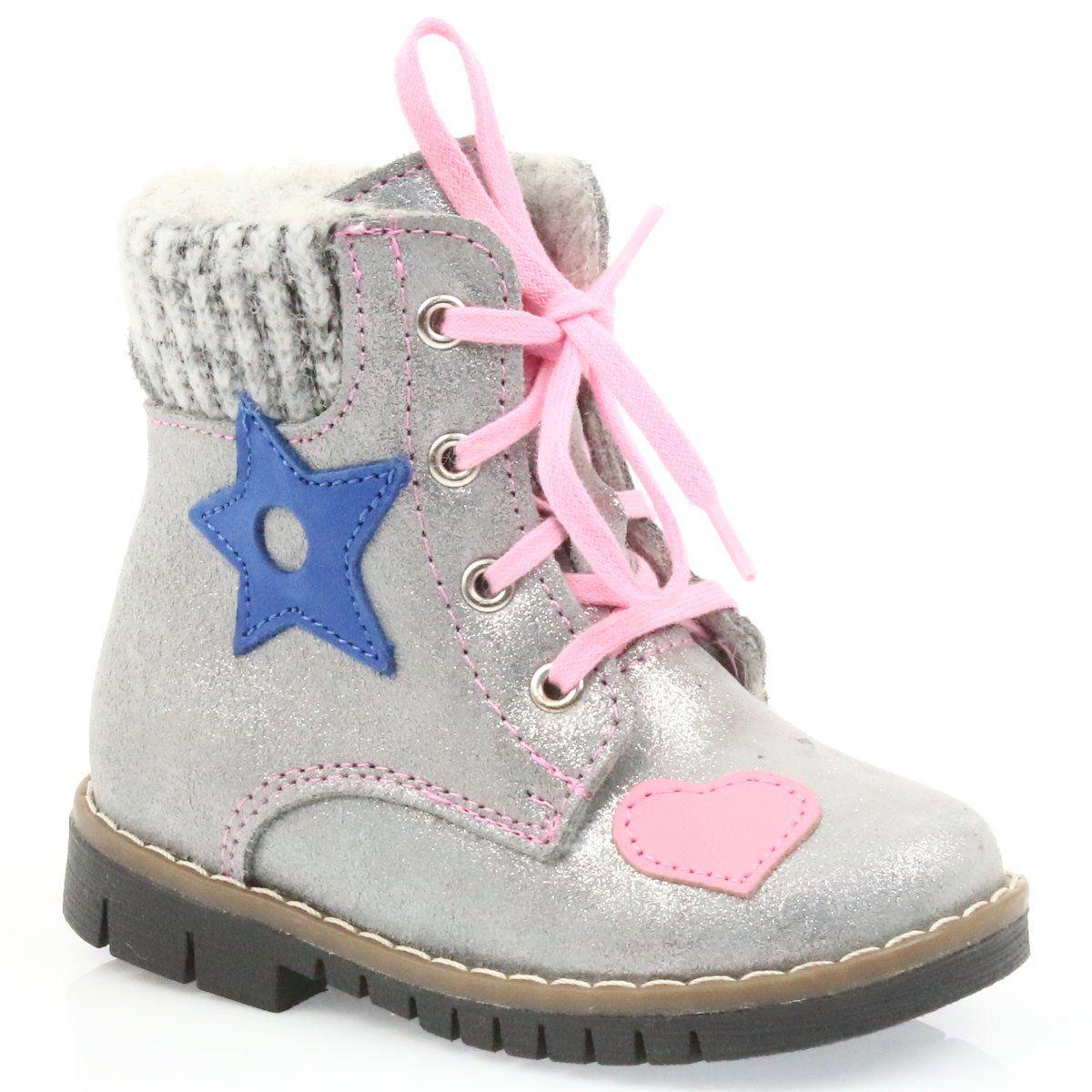 Kozaczki Timberki Ren But 1508 Szare Boots Baby Shoes Shoes