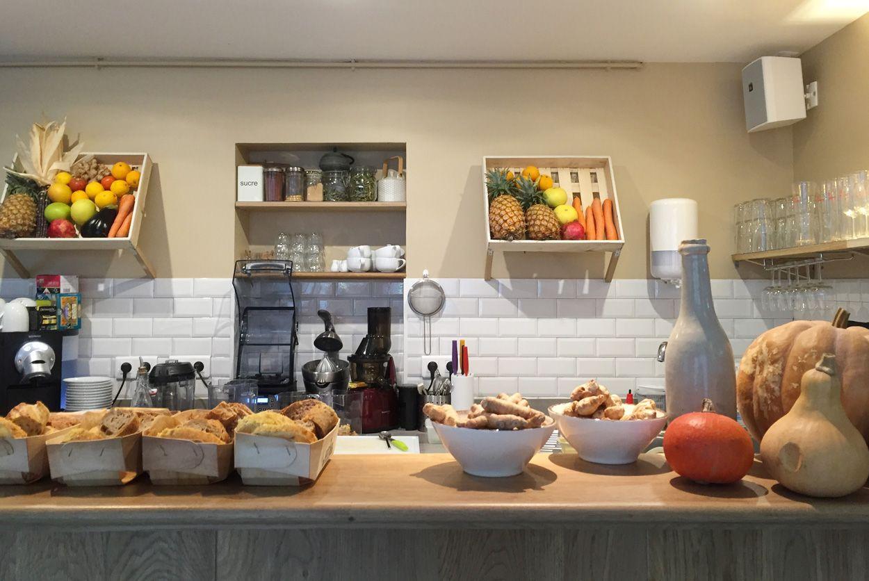 Le Potager de Charlotte gluten free vegetarian restaurant and juice bar in Paris, from Baci di Dama Gluten-free