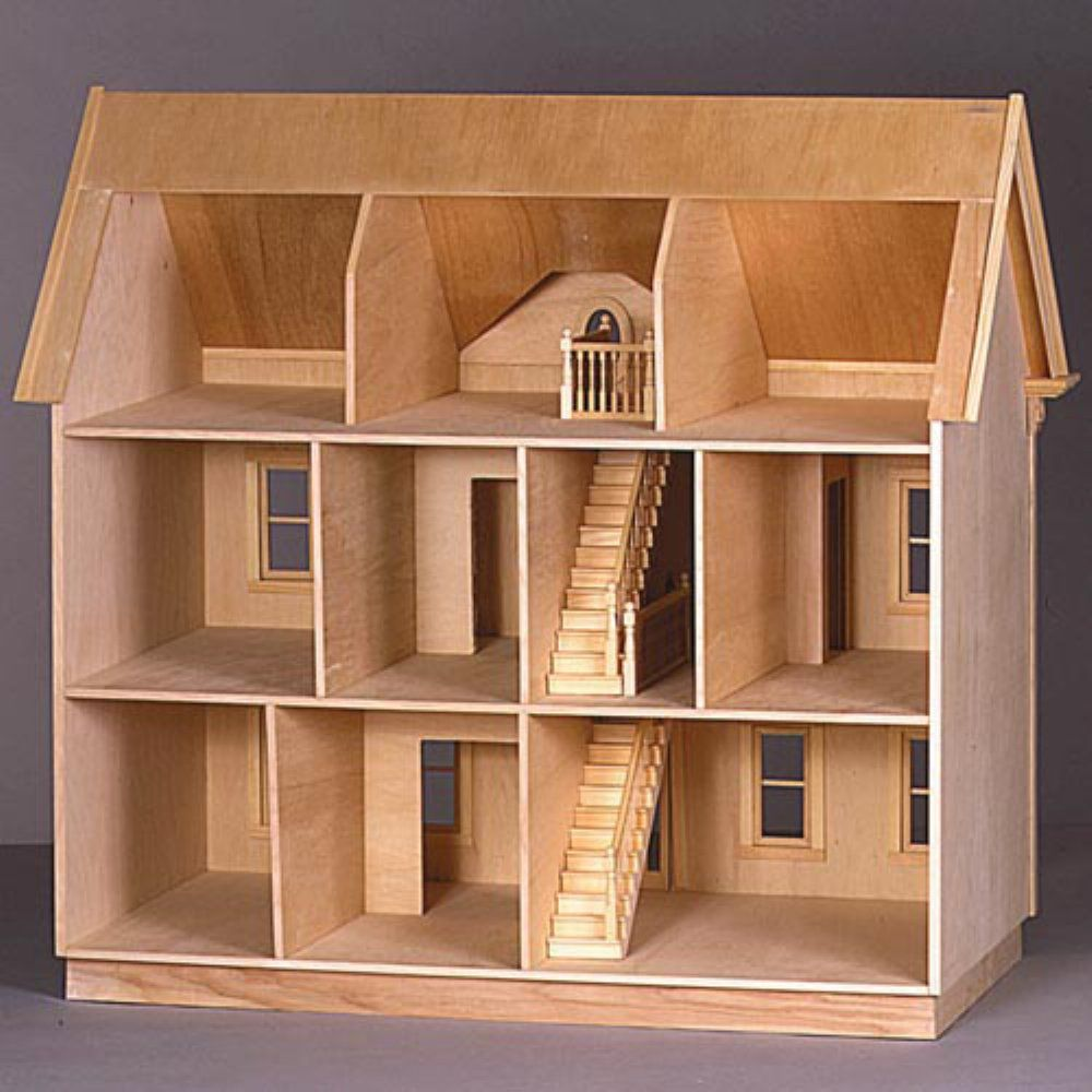 Real Good Toys The Montclair Dollhouse Kit   1 Inch Scale   Collector  Dollhouse Kits At Hayneedle