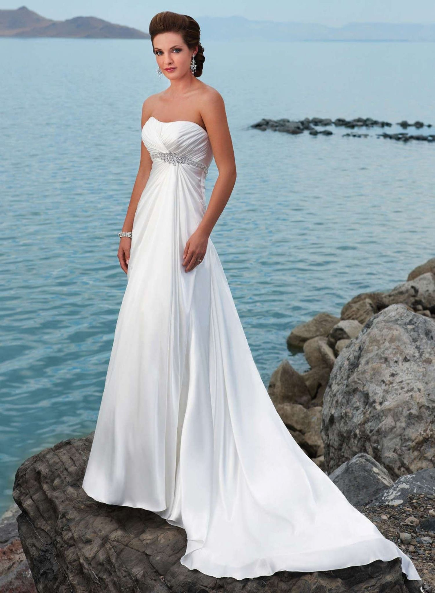 inexpensive beach wedding dresses - cold shoulder dresses for ...