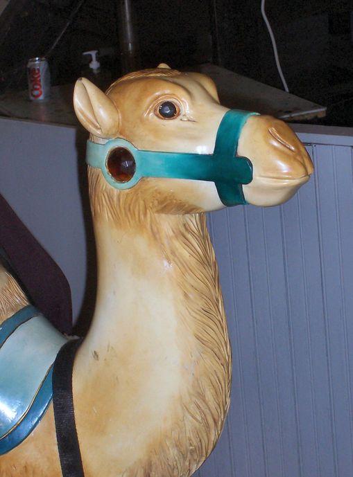 Slater Memorial Park Carousel Looff Camel Detail