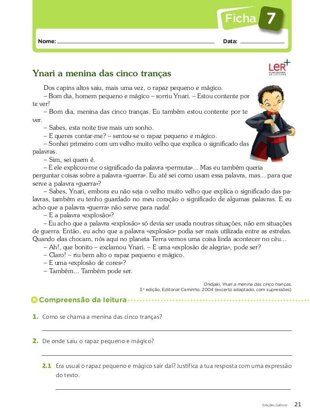 Fichas Do Prefessor Portugues Com Imagens Livro De Portugues