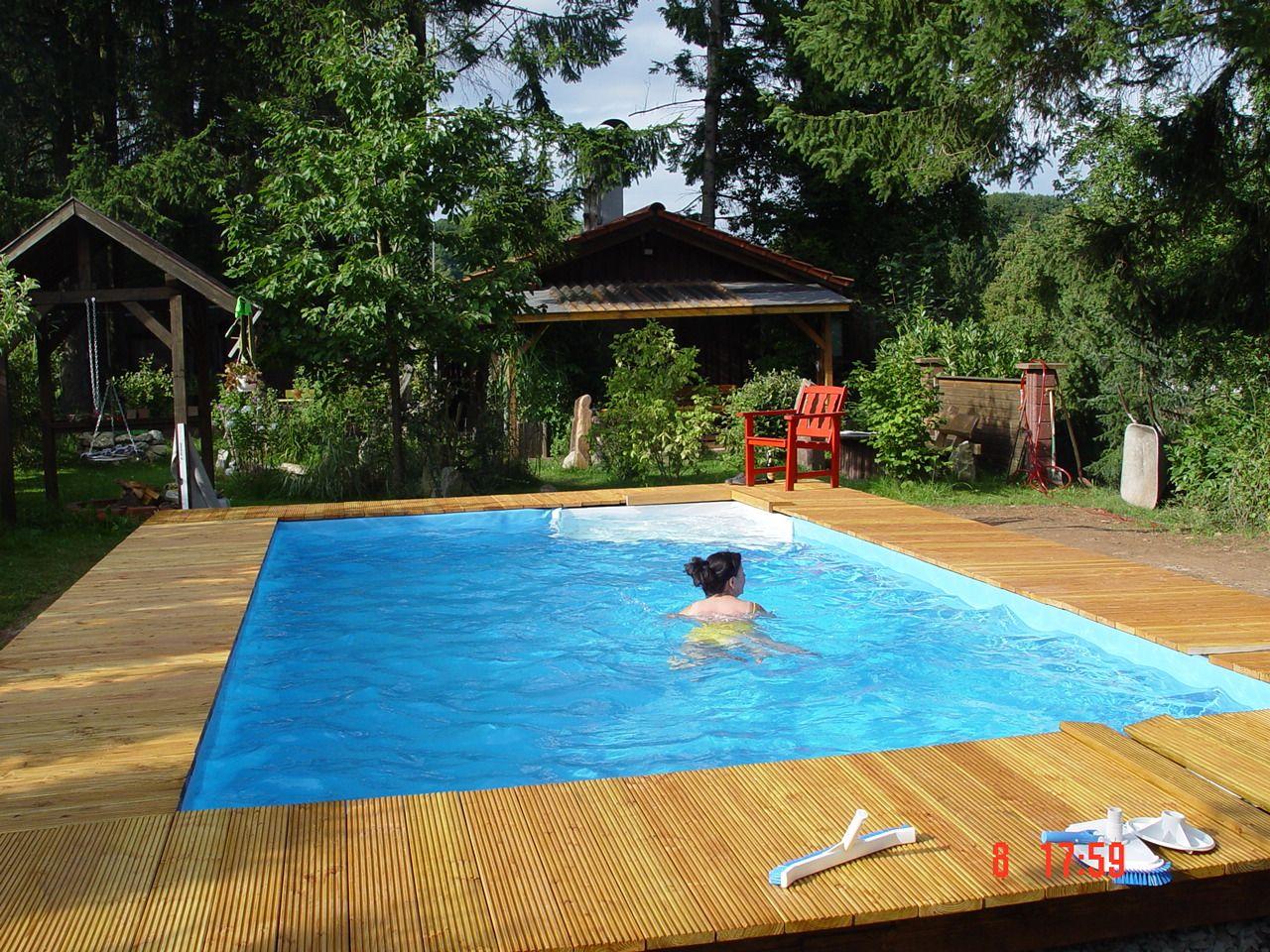 Pool mauern fertig inspirationen pinterest teich for Ovaler pool garten
