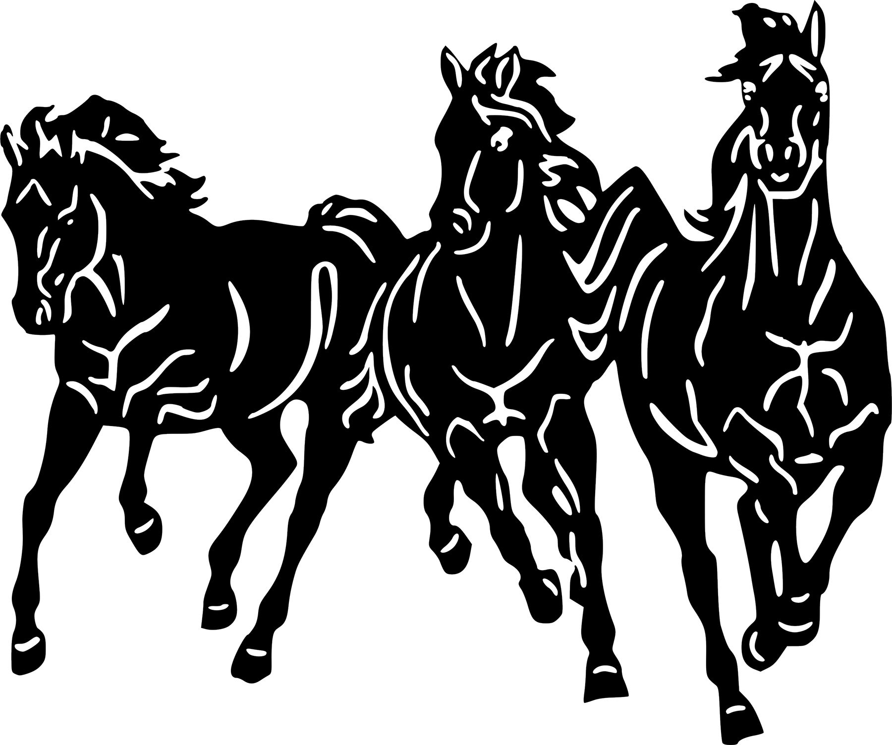 Horses Running Wild Horse Wall Car Truck Window Laptop Vinyl Decal - Custom vinyl decals for metal