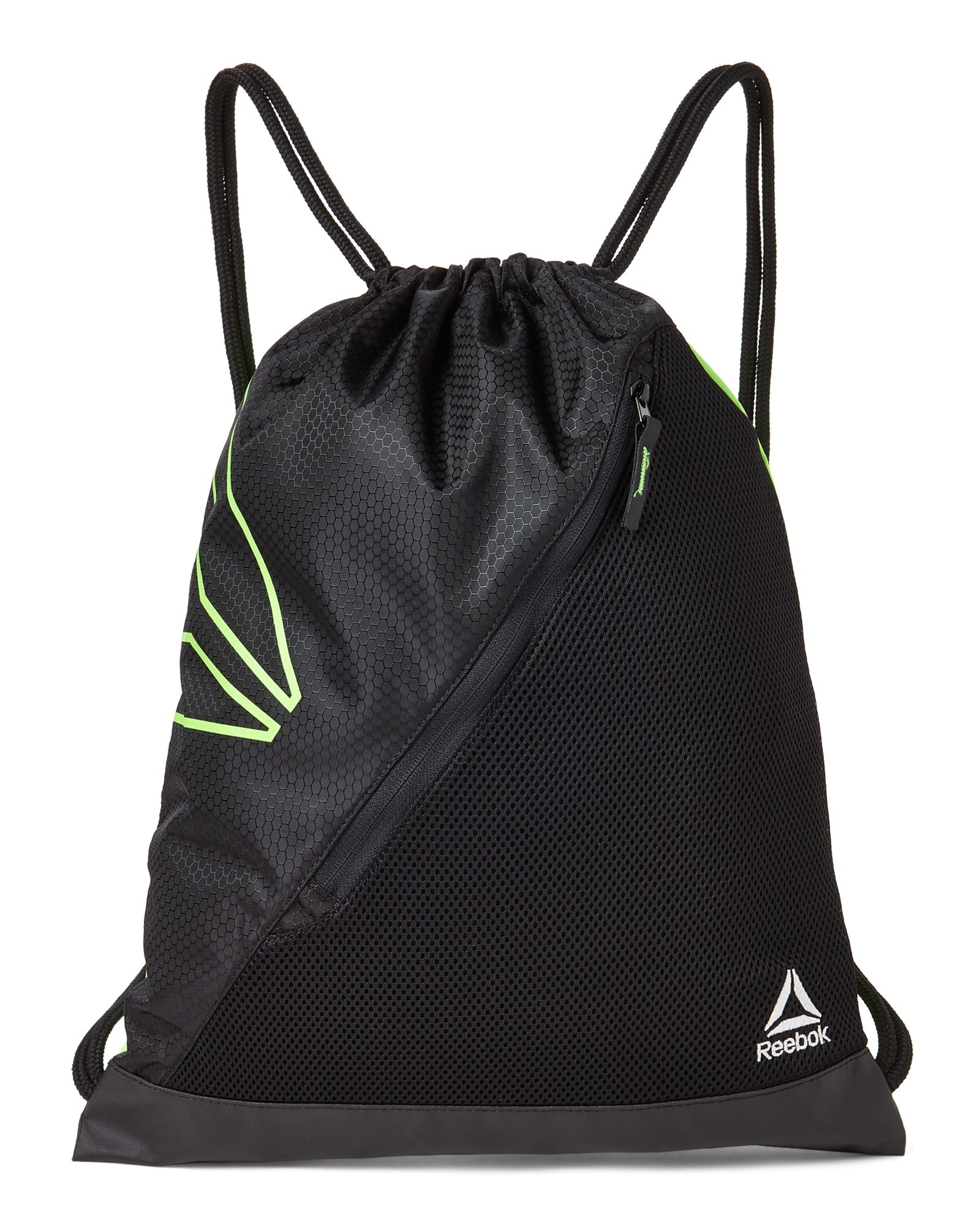 cd19bb70c9eb Reebok Black   Green Interval III Performance Training Gym Sack Luggage  Bags