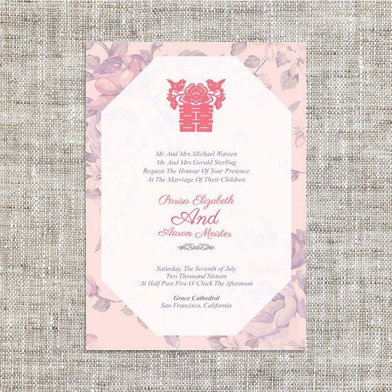 Diy Digital Printable Editable Chinese Wedding Invitation Etsy In 2021 Chinese Wedding Invitation Card Wedding Invitation Cards Chinese Wedding Invitation