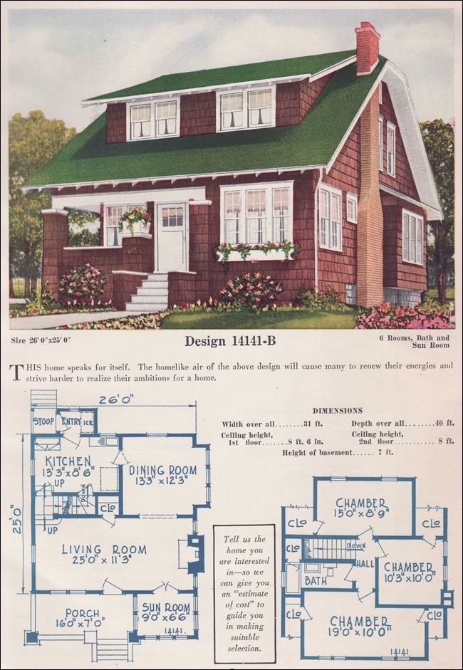 1925 House Styles Gable Bungalow Story And A Half