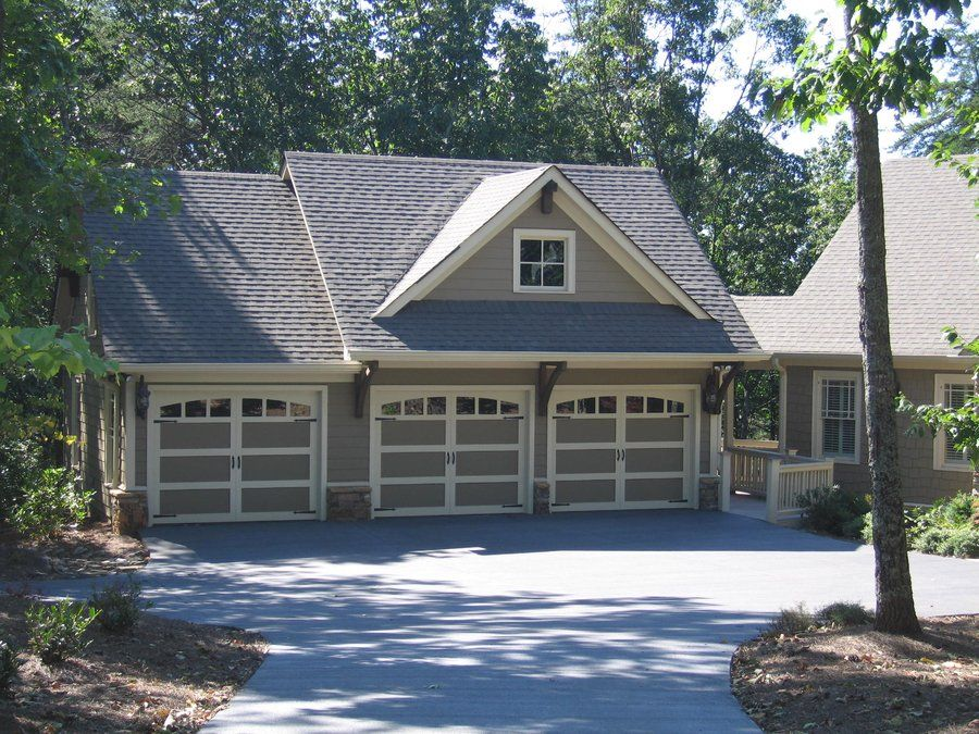 Great detached rustic 3 bay garage with a large studio for Single car garage with apartment above plans