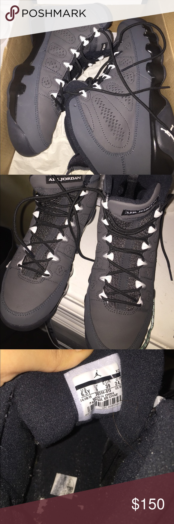 Jordan 9 anthracite Worn only a few times in like new condition size 6.5y is a women's 8 Shoes Sneakers