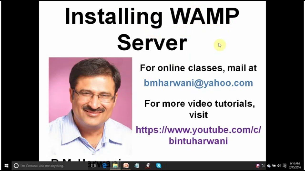 Video tutorial to learn installation of wamp server step by step video tutorial to learn installation of wamp server step by step you will also learn baditri Gallery