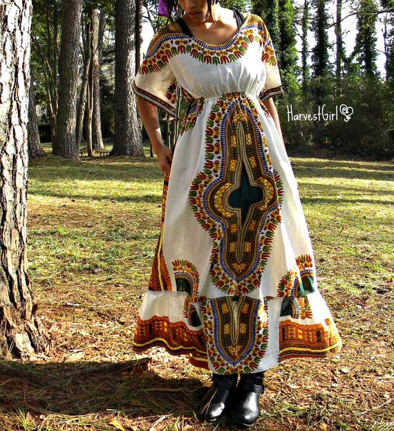 Plus Size Harvest Dashiki Dress w/Pocket by HarvestGrlExperience ...