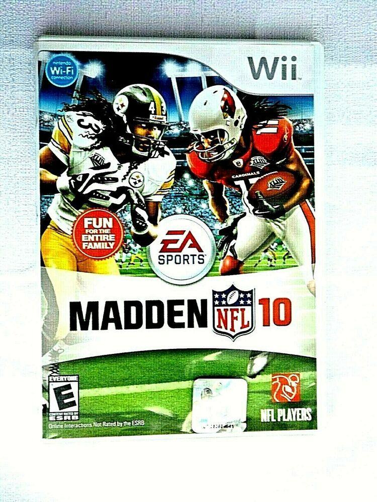 Wii Madden NFL 10 (Nintendo Wii, 2009) Complete