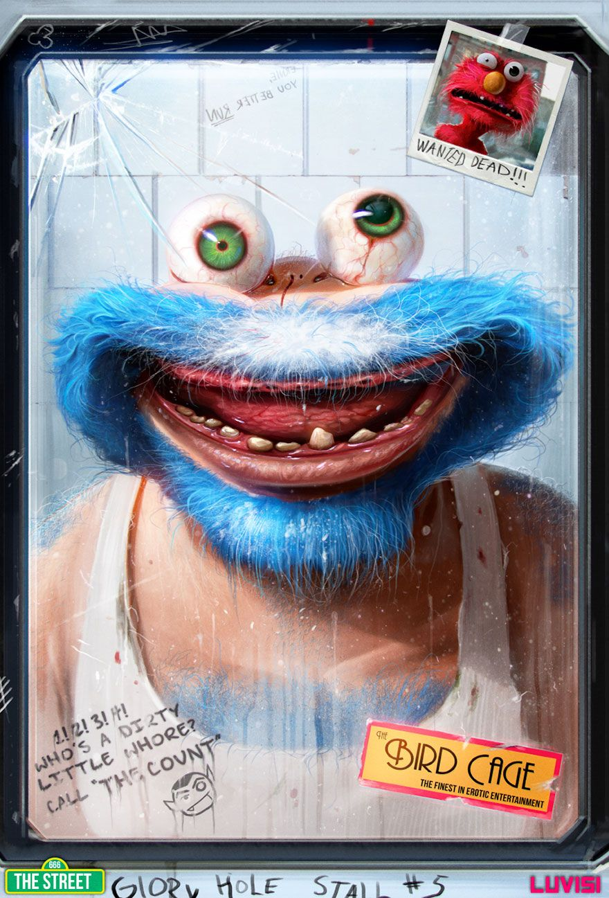 Your Favorite Childhood Cartoon Characters Reimagined As Criminals - 18 realistic cartoon characters that are the stuff nightmares are made of