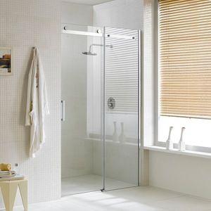 Source 8mm frameless sliding European stainless steel roller shower doors on m.alibaba.com #framelessslidingshowerdoors