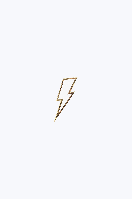 Marc Jacobs Enamel Lightning Bolt Pin In Silver Modesens Lightning Bolt Tattoo Bolt Tattoo Lightning Bolt