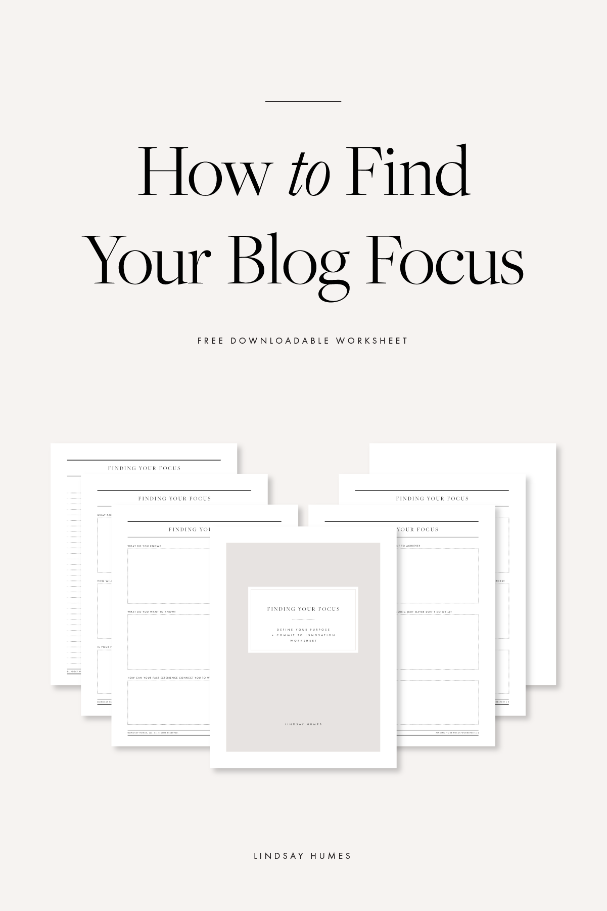Find Your Focus Worksheet For Bloggers