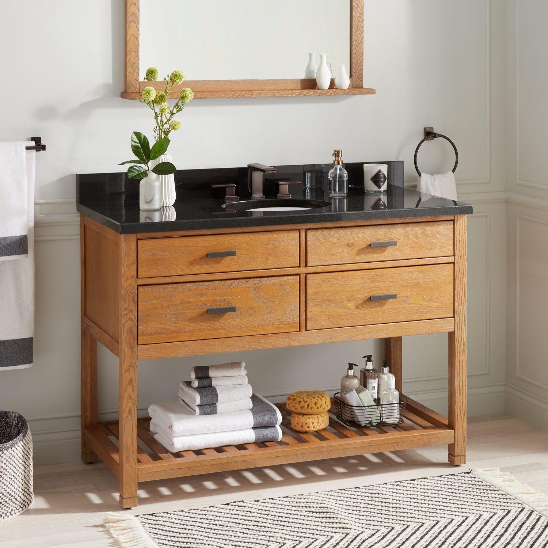 48 Benoist Reclaimed Wood Console Vanity For Rectangular