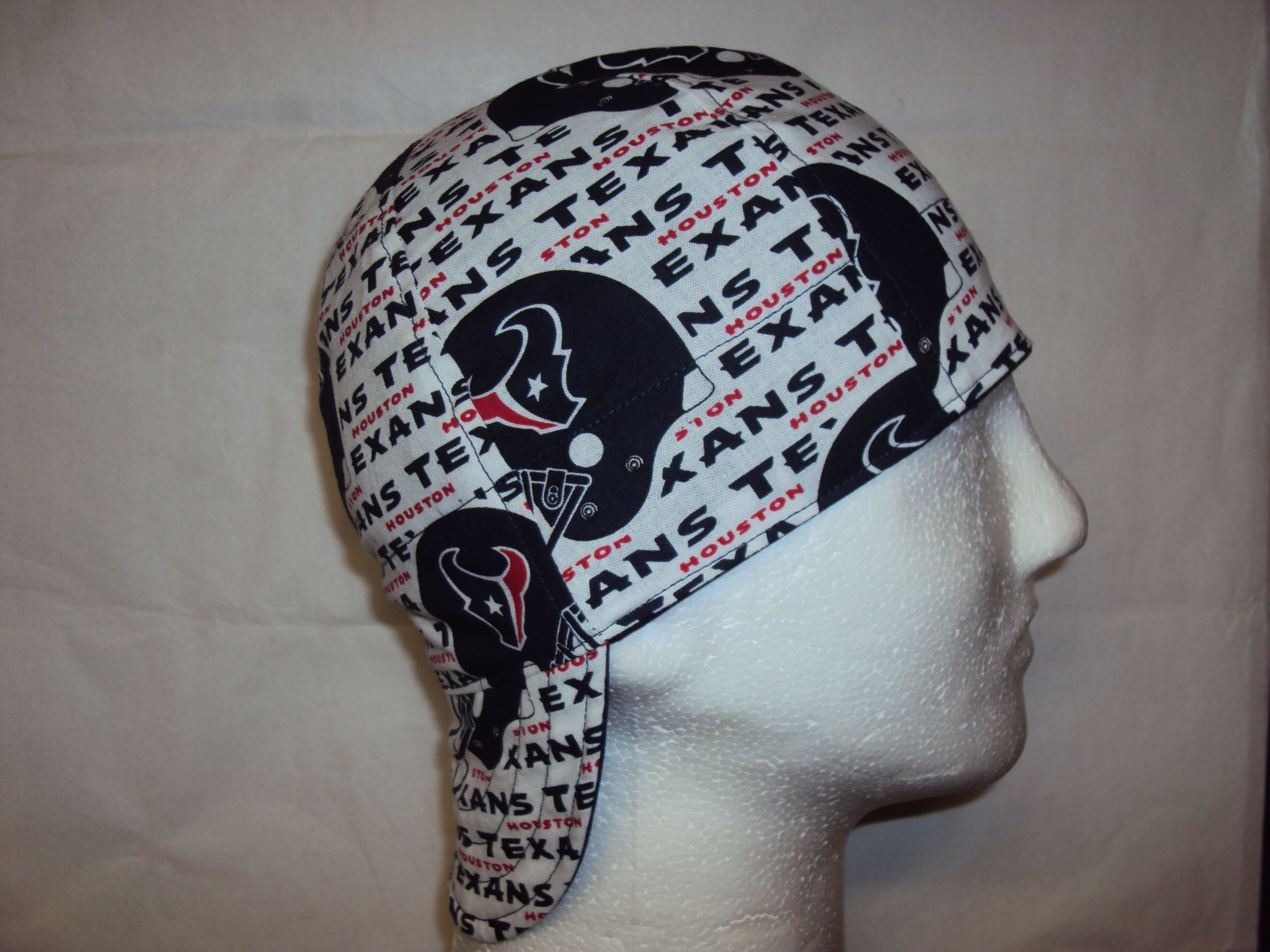 WELDING CAP MADE WITH HOUSTON TEXANS