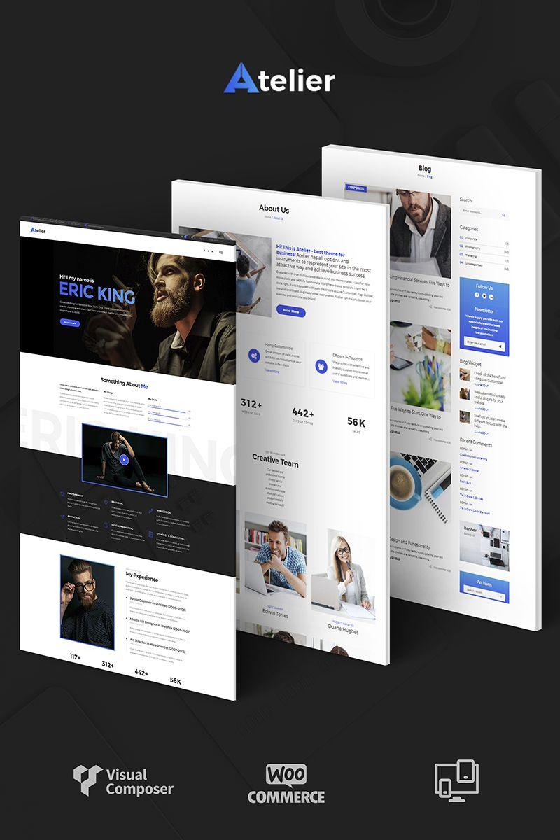 Atelier Design & Photography Template WordPress Theme