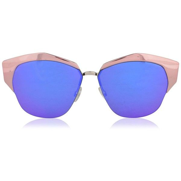 DIOR Mirrored Sunglasses ($410) ❤ liked on Polyvore featuring accessories, eyewear, sunglasses, christian dior glasses, christian dior, christian dior eyewear, christian dior sunglasses and metal sunglasses