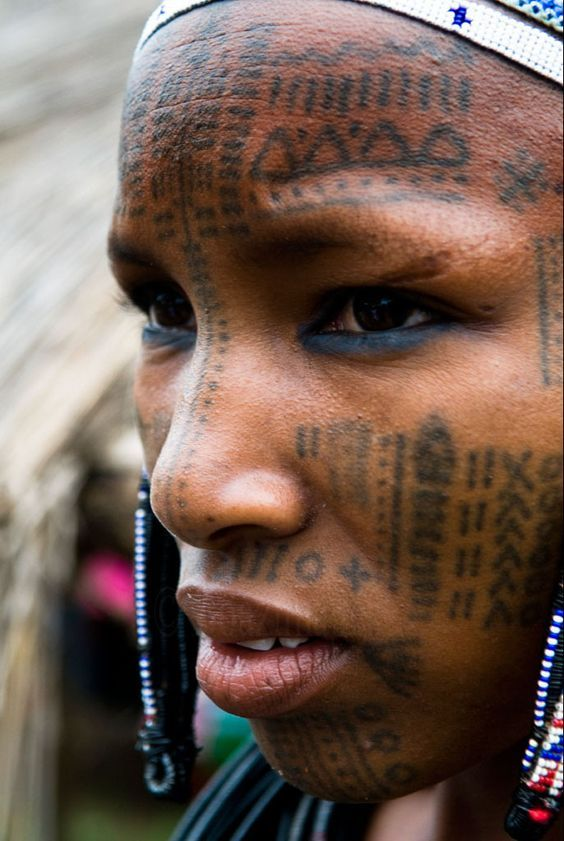 Facial scarring in fulani tribe were not