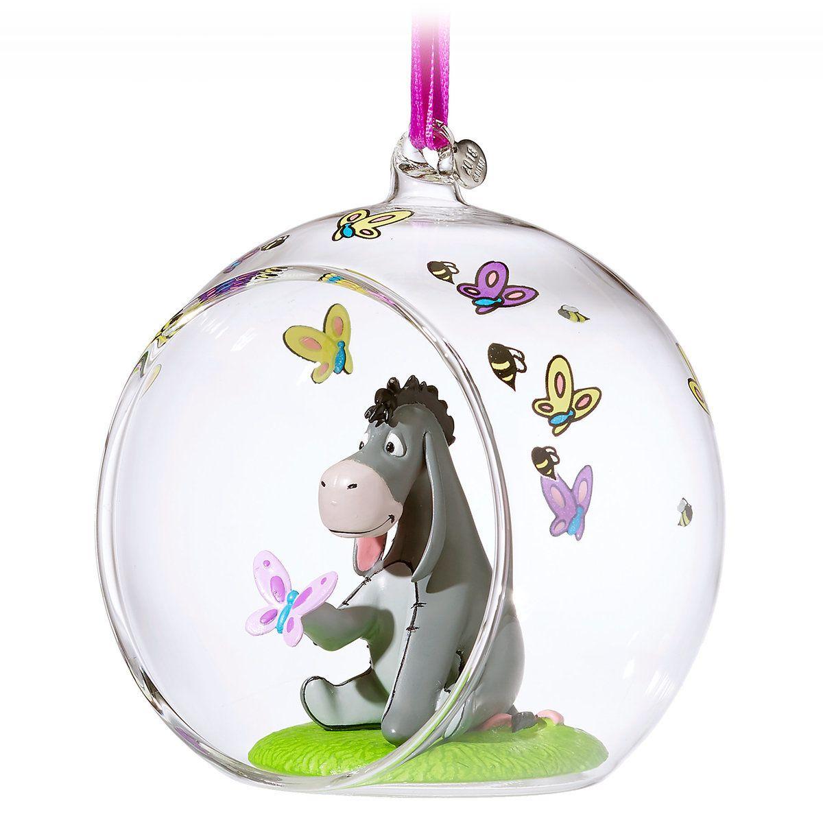 Eeyore Glass Globe Sketchbook Ornament - Winnie the Pooh   Disney ...