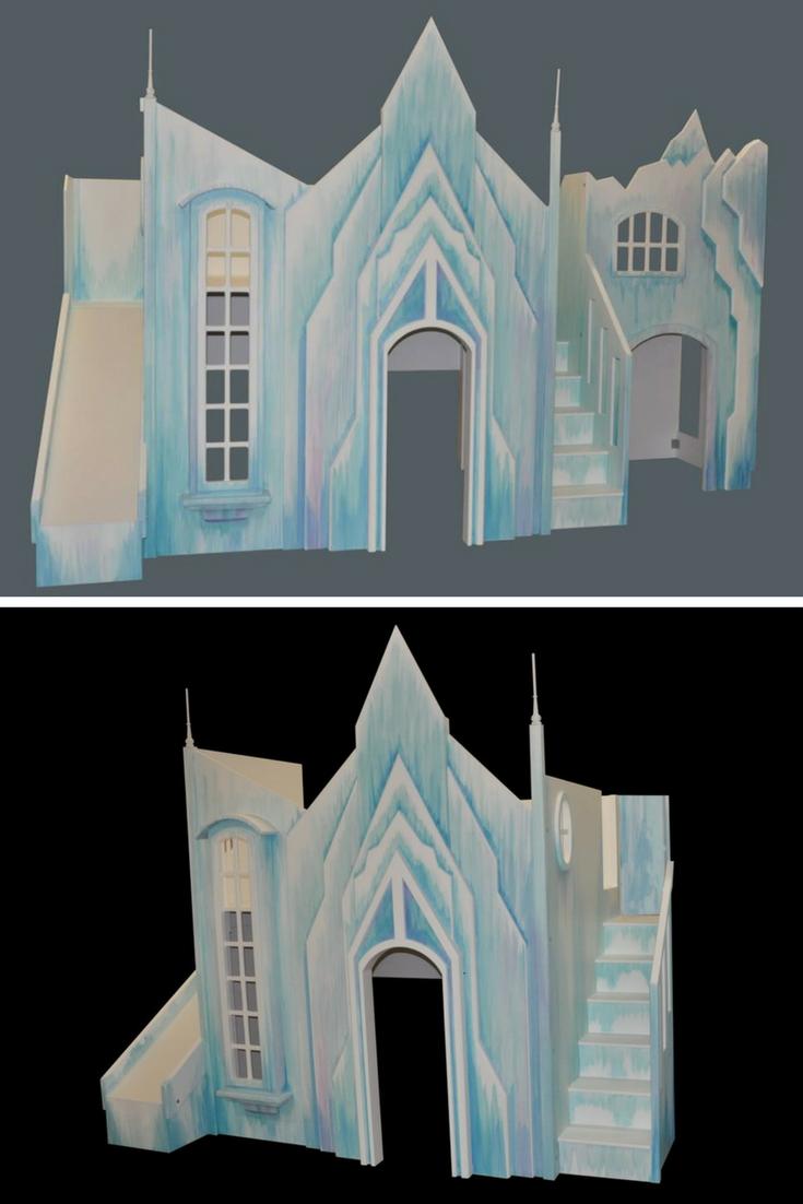 Frozen Castle Playhouse or Bunk Bed Frozen castle