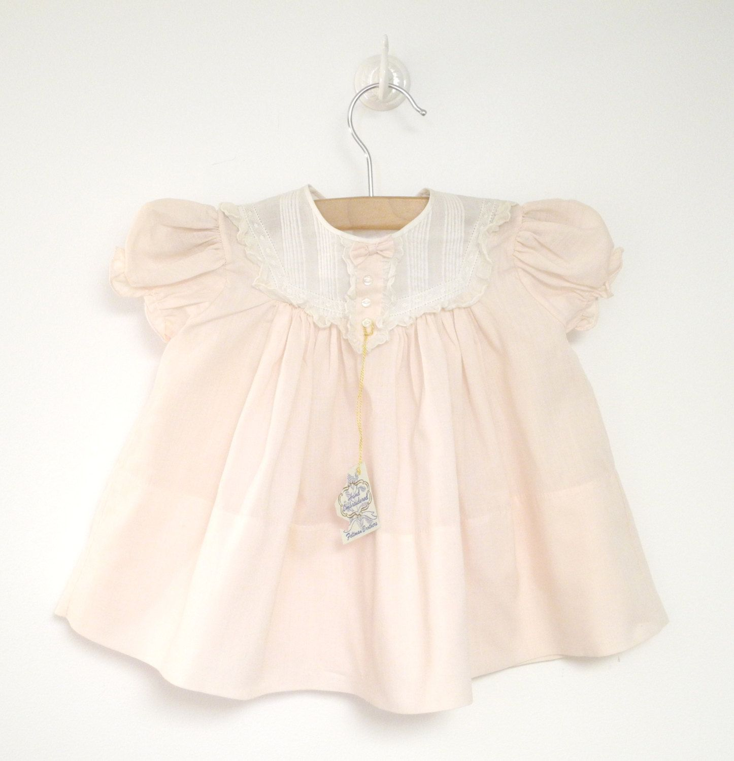 Vintage Baby Clothes 1960 s Pale Pink and White by BabyTweeds