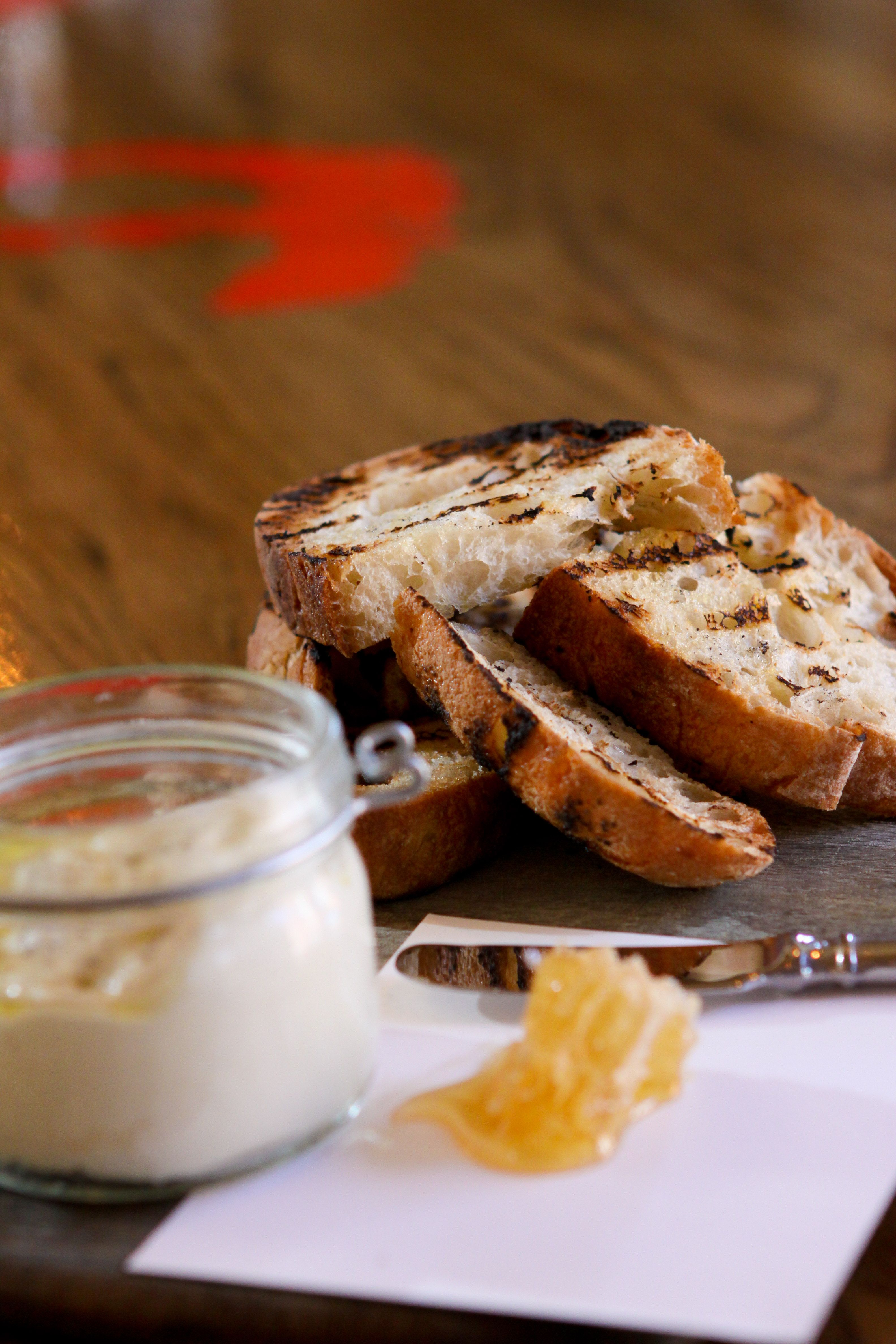 Vasi-  ricotta + honeycomb + tuscan toast
