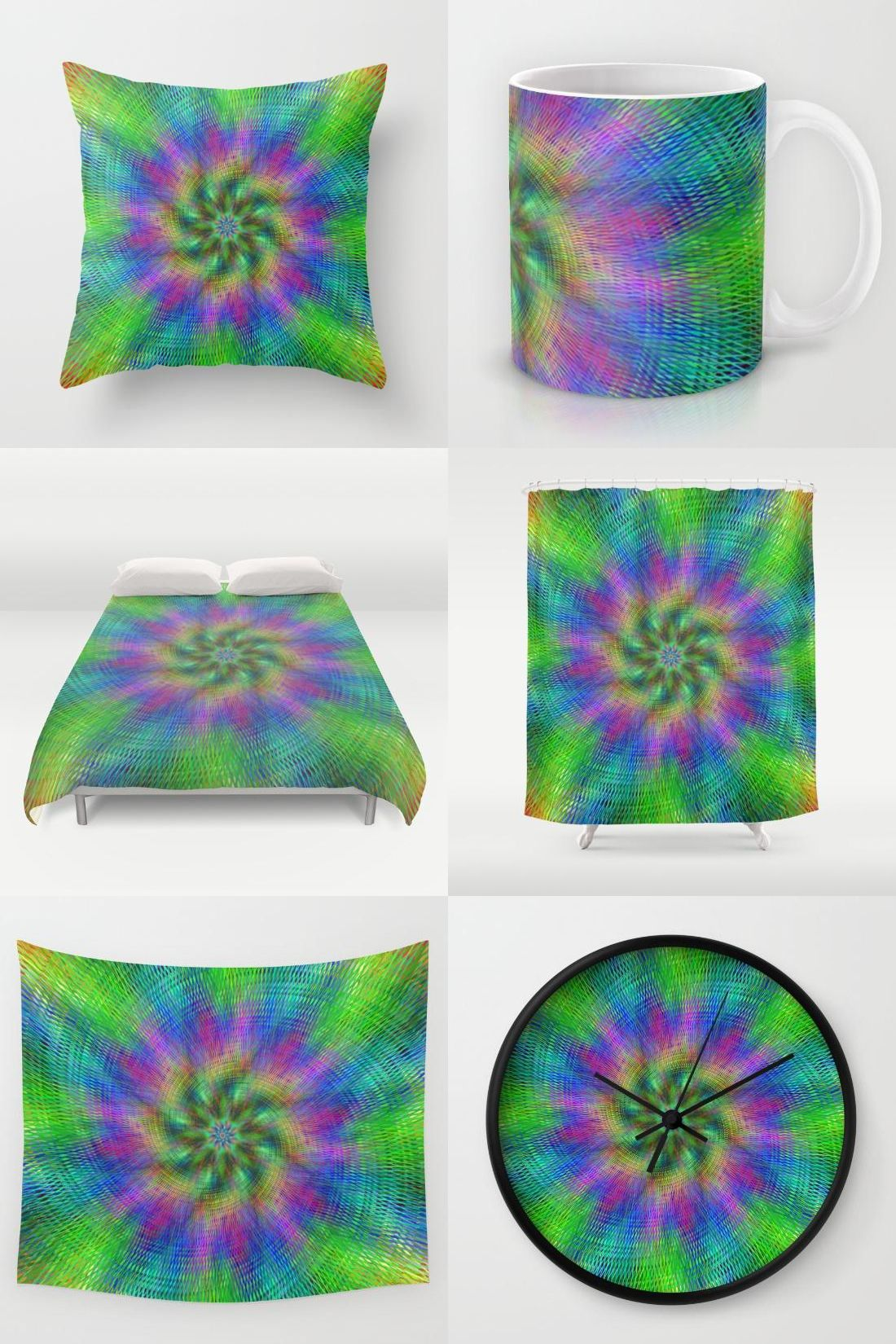 Throw pillows cards mugs shower curtains - Multicolor Abstract Home Decor Gifts Throw Pillow Mug Duvet Cover Shower Curtain