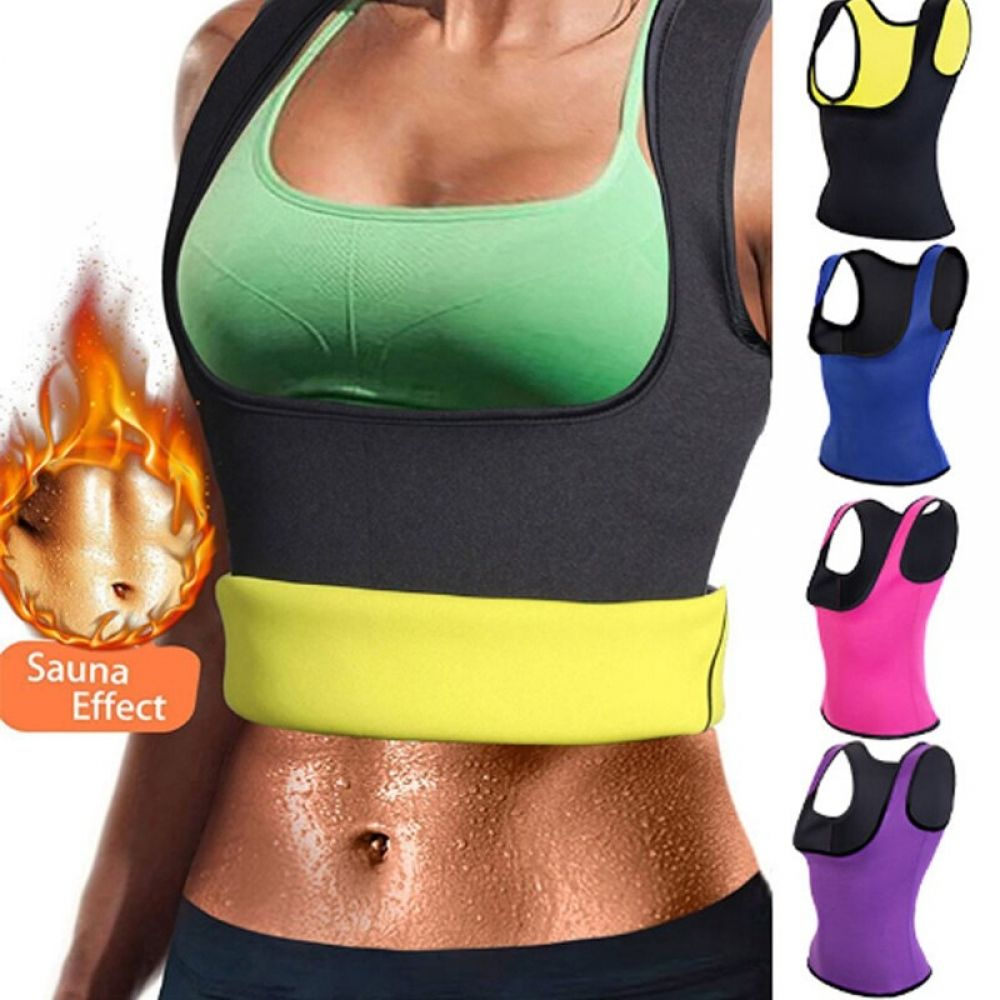 Women Fajas Neoprene Sweat Vest Colombianas Reductora Abdomen Sauna Body Shaper