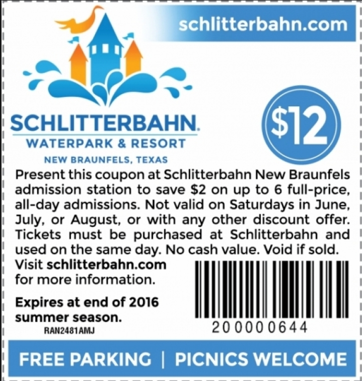 12222 Schlitterbahn Coupons and Deals